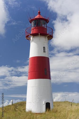 Leinwanddruck Bild Leuchtturm am Ellenbogen in List auf Sylt,
