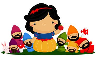 princess and seven dwarf