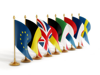 European Union Country Flags