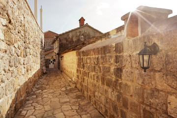 Street in an old European city