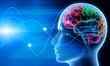 Leinwanddruck Bild - Gehirn - Schwingungen 1