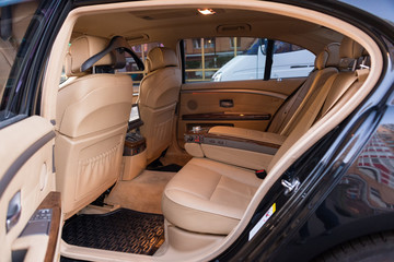 Expensive car interior
