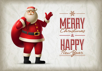 Santa Claus Vector Design Template