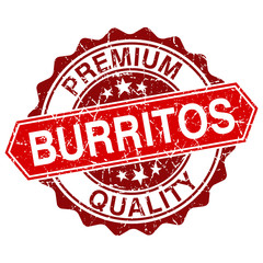 Burritos red vintage stamp isolated on white background