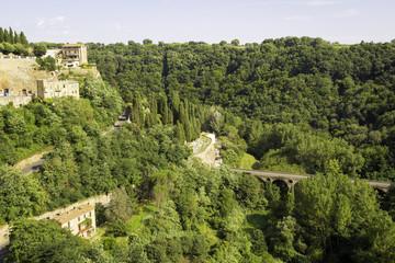 Pitigliano, Tuscany. Color image