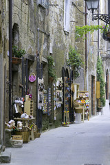 Pitigliano, Tuscany, old city. Color image