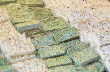 Nougat is a typical sweet Italian handcrafted in the tradition