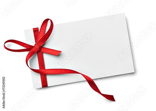Fototapeta ribbon bow card note chirstmas celebration greeting