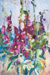 oil painting, flowers
