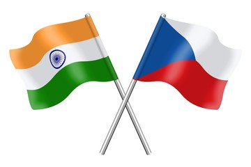 Flags: India and Czech Republic