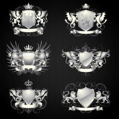Silver heraldry set