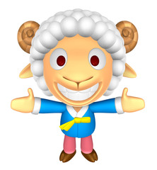 3D Sheep Mascot has been welcomed with both hands. 3D Animal Cha