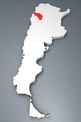 La Rioja provincia Argentina mappa 3d