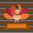 Happy Thanksgiving paper cut with turkey