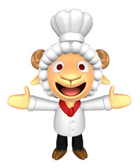 3D Chef Sheep Mascot has been welcomed with both hands. 3D Anima