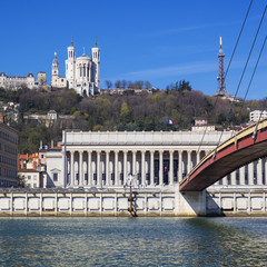 View of Lyon with basilica and courthouse