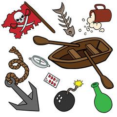 Funny pirate set.