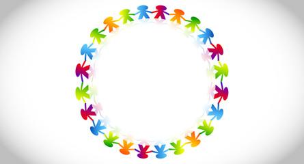 amicizia, comunità, colori, girotondo
