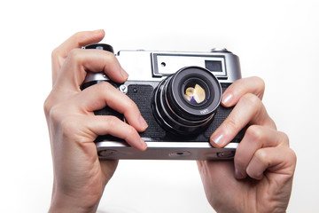 Taking photos using 35mm classic camera