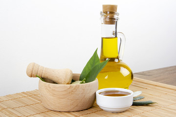 Green Leaves With Honey and Olive Oil