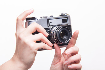 Taking photos using classic 35mm camera