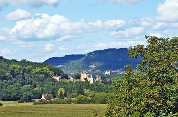 La valle della Dordogna a Castelnaud - Aquitania