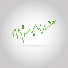 Vector Make profits run,arrow,dollar