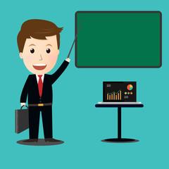 Vector of  teaching Business finance