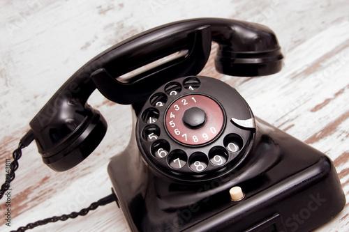 canvas print picture Altes Telefon