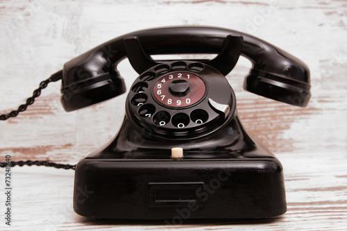 Leinwandbild Motiv Altes Telefon