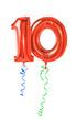 Leinwandbild Motiv Rote Luftballons mit Geschenkband - Nummer 10
