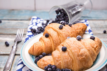 croissant with berry