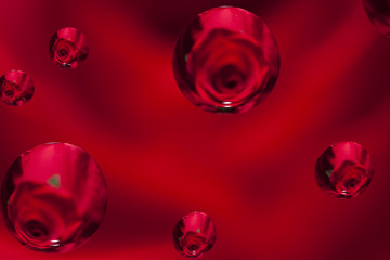 Rose Droplet Abstract