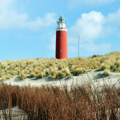 Lighthouse on island Texel in the Netherlands.