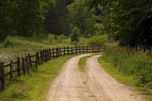 "Постер, картина, фотообои ""Rustic Country Road"""