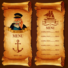 restaurant menu SEA