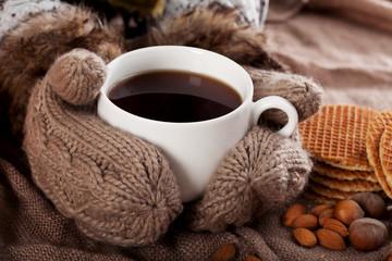 Cup of winter tea