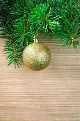golden ball christmas decoration