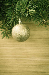 golden ball christmas decoration