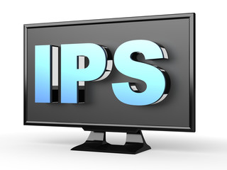 LCD IPS (In-plane switching) technology in TV