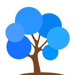 blauer Laubbaum