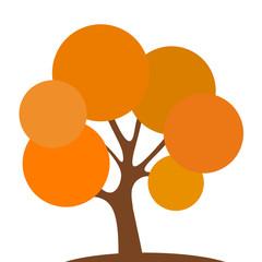 orangener Laubbaum