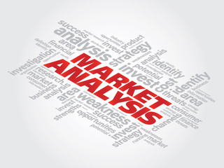 Market Analysis vector concept word cloud background