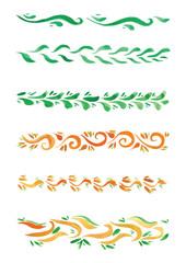 Beautiful watercolor swirls different styles