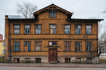 Typical wooden house in Tallinn, Estonia