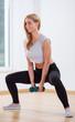 Fit woman doing squat