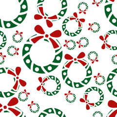christmas garland seamless pattern