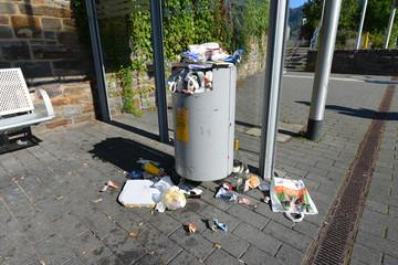Abfallkorb, Müll, Entsorgung, Reste, Verpackung, Umweltschutz