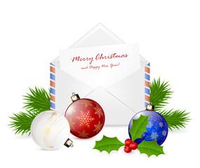 Christmas envelope with congratulation