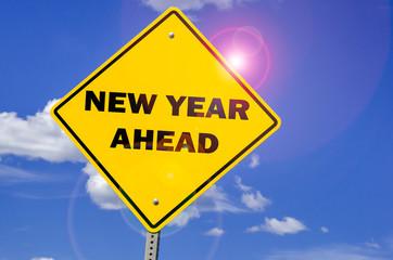 New Year Ahead Creative Sign